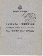 CARNET TOURISTIQUE 1937 ITALIE PONTE S LUIGI - Titres De Transport