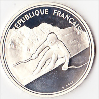100 Fr Argent Albertville 1992 Ski De Descente - N. 100 Francs