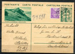 """Schweiz 1935 Bildpostkarte Mi.Nr.P 159/Bild 2-10 Er,gruen"""" Amden,Kurgebiet Walensee """"bef.""""Altstätten-München """"1 GS Used - Entiers Postaux"""