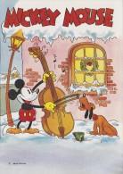 ¤¤  WALT DISNEY  PRODUCTION   -   MICKEY Jouant Du Violoncelle Avec PLUTO  ¤¤ - Disney