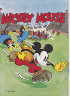 ¤¤  WALT DISNEY  PRODUCTION   -   MICKEY Jouant Au Football   ¤¤ - Disney