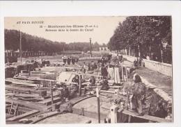 Cpa MONTCEAU LES MINES Bateaux Dans Le Bassin Du Canal - 15 BF - Montceau Les Mines