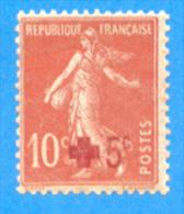 France 1914  : Au Profit De La Croix-rouge. Semeuse Fond Plein N° 146 Neuf Sans Charnière (2 Scans) - Nuovi
