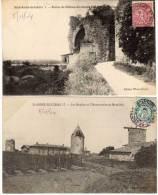 SAINT ANDRE DE CUBZAC - 2 CPA - Les Moulins  - Ruines Chateau (58394) - France