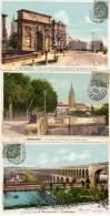 MONTPELLIER - 3 CPA - Arc De Triomphe, Le Peyrou, L' Aqueduc, (58396) - Montpellier