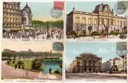 MONTPELLIER - 4 CPA - Pl. Comédie, Jardin Esplanade, Préfecture, Théatre (58399) - Montpellier