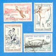 France 1958 : Jeux Traditionnels N° 1161 à 1164 Oblitéré - Gebruikt