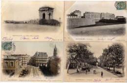 MONTPELLIER - 4 CPA -Chateau D' Eau, Rue Nle, Caserne, Esplanade  (58400) - Montpellier