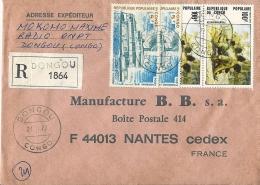 Lettre R De DONGOU Pour La France 21/11/1977 - Congo - Brazzaville
