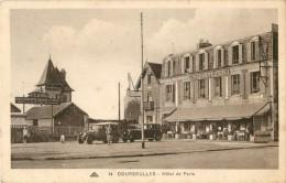 14 COURSEULLES - HOTEL DE PARIS ( AUTOMOBILE ) TAMPON DE L HOTEL SUR LE VERSO - France