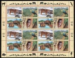 UNO GENF Mi.Nr. 409-412 Gefährdete Arten (IX) - Kleinbogen - Used - Genève - Kantoor Van De Verenigde Naties