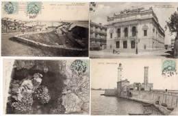 CETTE (SETE) - 4 CPA - Port, Chateau D' Eau, Phare St Louis, Théatre    (58412) - Sete (Cette)