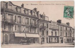 91  étampes  Place De L'hotel De Ville Cafe De La Poste - Etampes