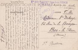 REGIMENT D'INFANTERIE 164ème - Dépôt - Cachet Rond - CP Saint Berthevin 19 Mars 1916 - Oorlog 1914-18