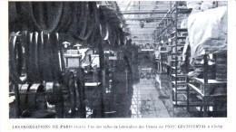 Les Inondations De Paris 1910 - Une Des Salles De Fabrication Des Usines Du PNEU CONTINENTAL à Clichy - Clichy