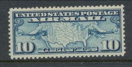 USA 1926 Air Mail Scott # C 7. Map Of U.S. And Two Mail Planes. MH (*) - Air Mail
