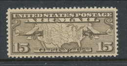 USA 1926 Air Mail Scott # C 8. Map Of U.S. And Two Mail Planes. MH (*) - Air Mail