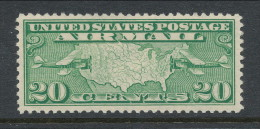 USA 1927 Air Mail Scott # C 9. Map Of U.S. And Two Mail Planes. MH (*) - Air Mail