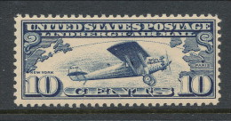 "USA 1927 Air Mail Scott # C 10. Lindbergh's Airplane ""Spirit Of St. Louis."" MNH (**) - Air Mail"