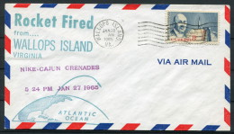 1965 USA Wallops Island Space Rocket Cover - Covers & Documents