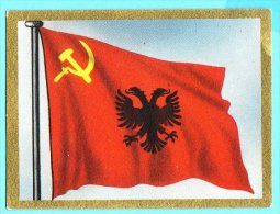 Die Welt In Bunten Flaggenbild - 1950 - Teil I - B.47 - Albanien, Shqipëria, Albania - Cromo