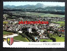 VÖCKLABRUCK Oberösterreich - Luftbild Luftaufnahme M. Freibad Hochhäuser - Vöcklabruck