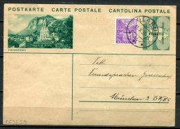 "Schweiz 1935 Bildpostkarte Mi.Nr.P 159/ Bild 39-10 Er,gruen""Mendrisio ""bef.""Glarus-München ""1 GS Used - Interi Postali"