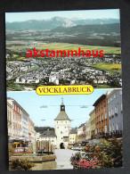 VÖCKLABRUCK Oberösterreich - Luftbild Luftaufnahme - Straßenpartie Geschäft DEIFLINGER (?) Brunnen - Vöcklabruck