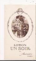 LOTION UN SOIR CARTE PARFUMEE ANCIENNE AUZIERE PARIS - Cartes Parfumées