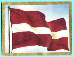 Die Welt In Bunten Flaggenbild - 1950 - Teil I - A.50 - Lettland, Latvija, Latvia - Autres
