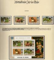 Jahr Des Kindes 1979 Burundi 1497/0+Block 109 ** 22€ Blocchi M/s UNESCO Bloc Set SOS-Kinderdorf Children Sheet Bf Africa - Burundi
