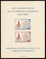 Chile,  Scott 2013 # 382, C297,  Issued 1969,  Imperf S/S Of 2,  NH,  Cat $ 9.00, - Chili