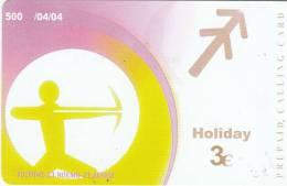 GREECE - Zodiac/Sagittarius, Amimex Prepaid Card 3 Euro, Tirage 500, 04/04, Used - Zodiaco