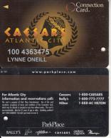 USA - Caesars Atlantic City, Casino Card, Used - Cartes De Casino