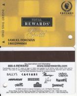 USA - Total Rewards, Caesars Atlantic City(gold), Casino Card, Used - Cartes De Casino