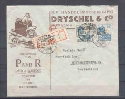 Niederländisch - Indien - R - Brief  29.9.1930 / Seerabaja Nach Schwarzenberg (Germany) / Siehe Fotos - Niederländisch-Indien