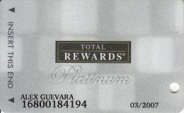 "USA - Total Rewards, Harrah""s(platinum), Casino Card, Exp.date 03/07, Used - Cartes De Casino"