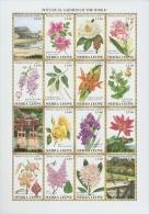 B027 Sierra Leone 1991 Flower s/s