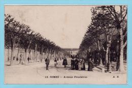 NIMES 1917 - Avenue Feuchères + Belle Animation - Nîmes