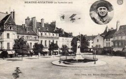 CPA PLACE CARNOT AVIATION Sept 1910 TTB - Beaune