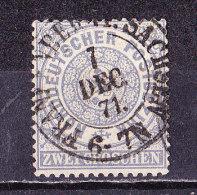 Germania Del Nord 1869 N° 16-2 Gr. Azzurro-usato - Norddeutscher Postbezirk