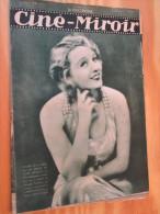 (cin813) REVUE CINEMA : CINE-MIROIR N°419 Du 14 AVRIL 1933  : COUVERTURE : FLORELLE Dans LA DAME DE CHEZ MAXIM'S / DOS : - Cinéma/Télévision