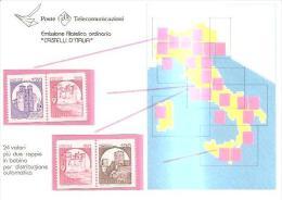 78137)  Poste Telecomunicazioni  Emissione Filatelica  Ordinaria Castell´ D´Italia  24 Valori +due Coppie In Bobina - 6. 1946-.. Repubblica