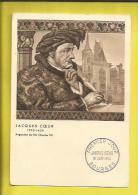 Carte Maximum FRANCE Jacques COEUR (1395-1456)Argentier Du ROI Charles VII Timbre Au Verso N° 1034 Oblitéré  18 06 55 - France