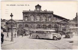 LILLE - La Gare - Beaux Plans Autobus, Tramway, Auto (48465) - Lille