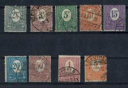 1920 Oberschlesien, Freimarken Ziffern,  MiNr. 1-9 Gest, Satz 9 W    Zustand: I-II - Deutschland