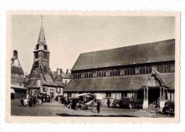 """HONFLEUR : """" Le Marché Place De L' Eglise Sainte Catherine """" Tractions En Parking Et Marché - Honfleur"""