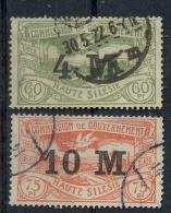 1922 Oberschlesien, Freimarken Mit Neuem Bedr. Wertaufdr.,  MiNr. 41+42 Gest, S   Zustand: I-II - Deutschland