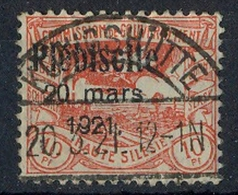 1921 Oberschlesien, Volksabstimmung Mit  Bedr. Aufdruck.,  MiNr. 30 Gest,    Zustand: I-II - Deutschland