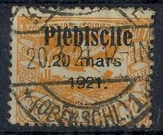 1921 Oberschlesien, Volksabstimmung Mit  Bedr. Aufdruck.,  MiNr. 34 Gest,    Zustand: I-II - Deutschland